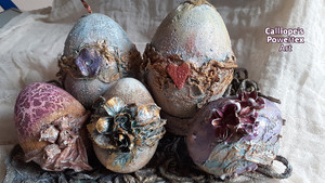 Διακοσμητικά Πασχαλινά Αβγά με Powertex | Calliope's Powertex Art