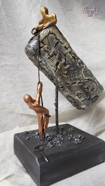 """""""Αλληλεγγύη""""   Εικαστικό Χειροποίητο Αγαλματίδιο με Powertex   Calliope's Powertex Art"""