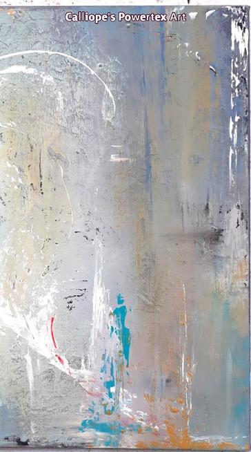 """""""Φτερό""""   Abstract Ζωγραφική σε Καμβά   Calliope's Powertex Art"""
