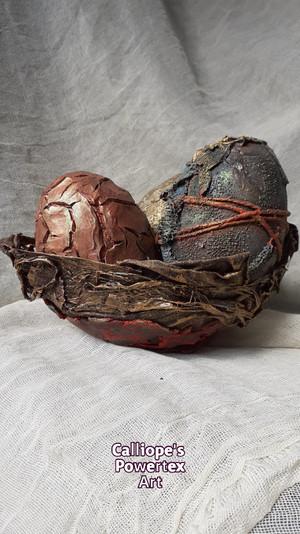 Πασχαλινά Διακοσμητικά Αβγά με Powertex | Calliope's Powertex Art