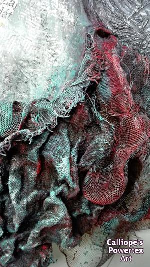 """""""Γράμματα""""   Επιτοίχιο Μπούστο σε Καμβά με Powertex   Calliope's Powertex Art"""