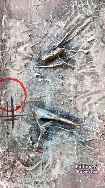 """""""Πληγή""""   Abstract Σε Καμβά   Calliope's Powertex Art"""