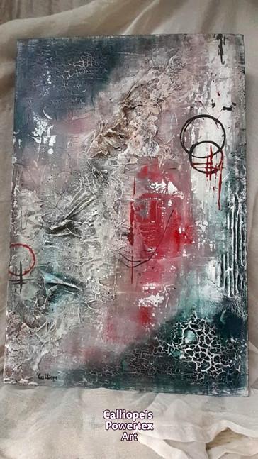 """""""Πληγή""""   Abstract Ζωγραφική Σε Καμβά   Calliope's Powertex Art"""
