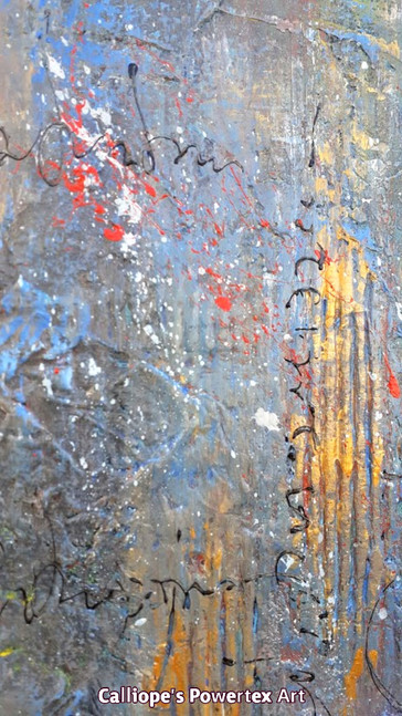 """""""Γιορτή""""   Abstract Σε Καμβά   Calliope's Powertex Art"""