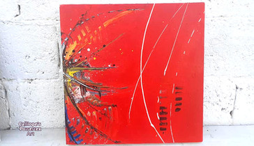 """""""Δυό Σε Ένα""""   Abstract Σε Καμβάδες   Calliope's Powertex Art"""