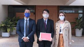 Rosana Valle e Sasaki pedem a embaixador do Japão vistos mais fáceis a bisnetos de imigrantes