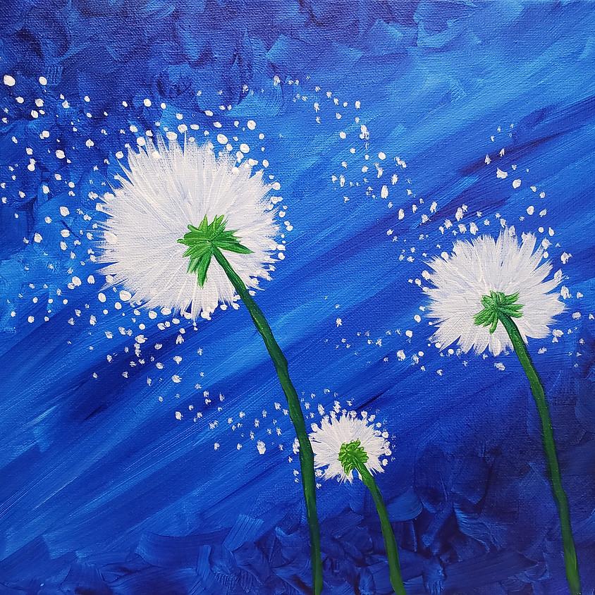 Zoom Paint Class Dandelion Wishes
