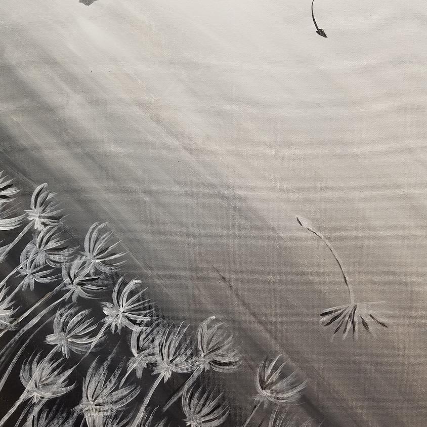 Windswept Dandelions 10am
