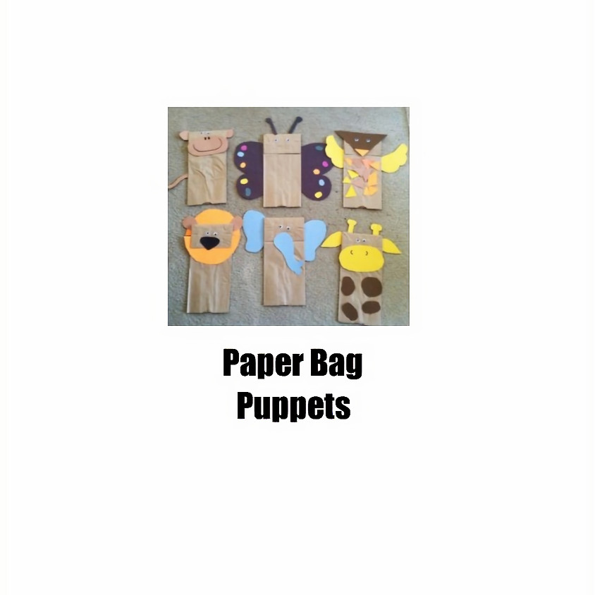 Saturday Craft Paper Bag Puppets