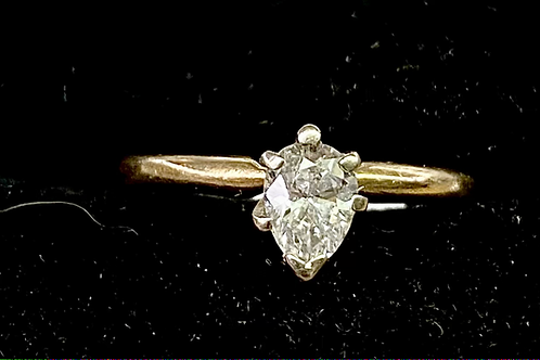 14k Yellow Gold Solitaire  Pear Shape