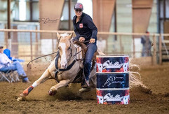 A little barrel racing action today at t