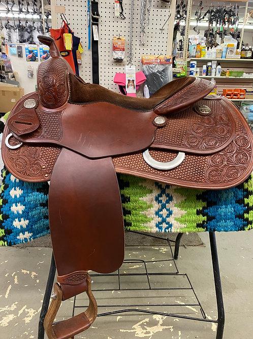"Scottsdale 16"" Reining Saddle made by Andy Maschke"