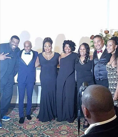 "The ""Comedy Council"" (From L-R) Talent, Ruperto Vanderpool, Cocoa Brown, Adele Givens, Tina Graham, Robert Rodriguez, and LOL Comedy Honors Creator, Marsha Taylor. (missing from photo is Comedy Council member, Guy Torry)"