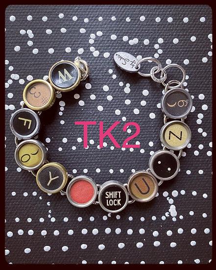 TK2 Vintage & Antique Typewriter Key Bracelet