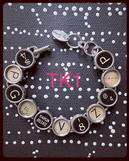 TK1 Vintage & Antique Typewriter Key Bracelet