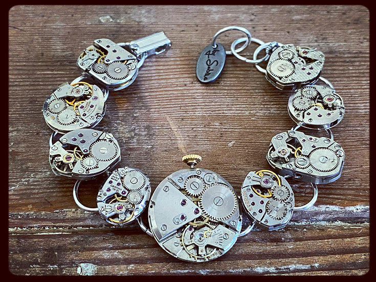 Vintage & Antique Watch Movement Bracelet