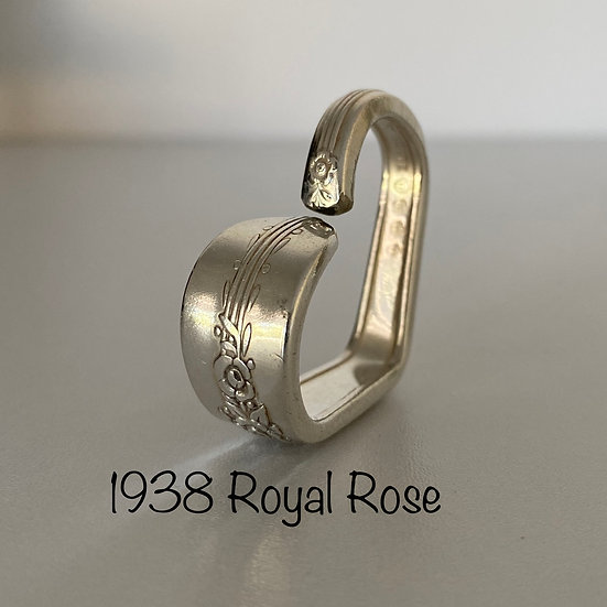 '1938 Royal Rose' Silver Spoon Handle Heart