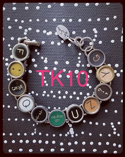 TK10 Vintage & Antique Typewriter Key Bracelet