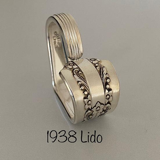 '1938 Lido' Silver Spoon Handle Heart