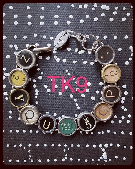 TK9 Vintage & Antique Typewriter Key Bracelet