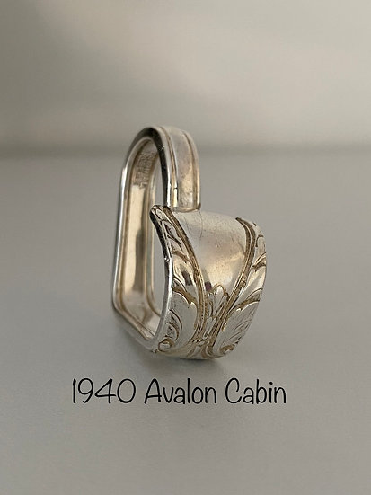 '1940 AvalonCabin' Silver Spoon Handle Heart