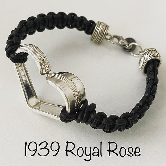 1939 Royal Rose Vintage Spoon Heart Bracelet