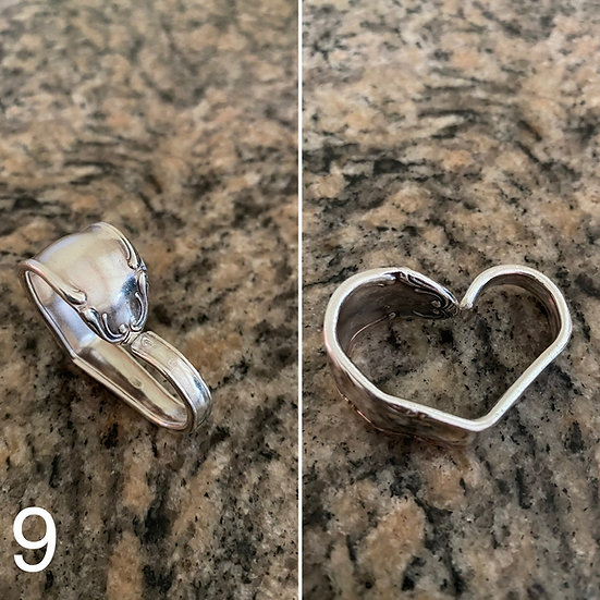 H9 Silver Spoon Handle Heart
