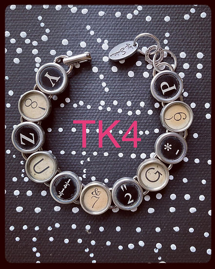 TK4 Vintage & Antique Typewriter Key Bracelet