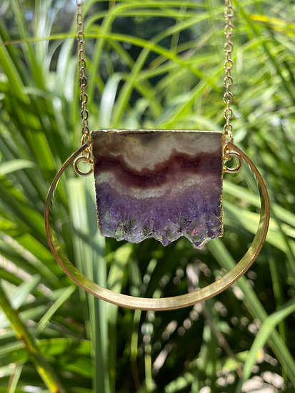 Crystal Slice Necklace