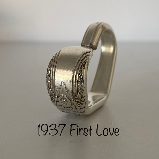 '1937 First Love' Silver Spoon Handle Heart