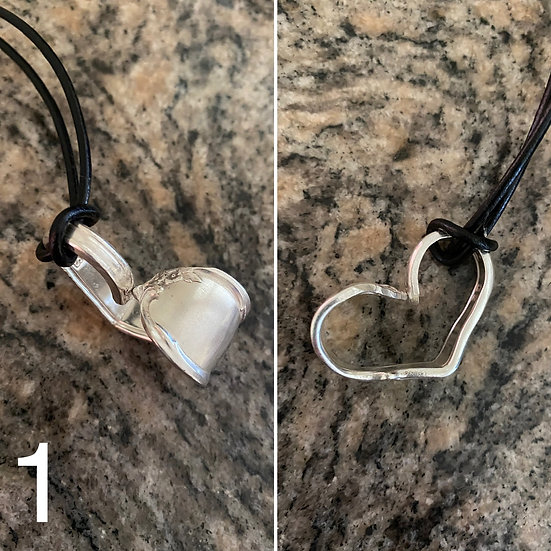 H1 Silver Spoon Handle Heart