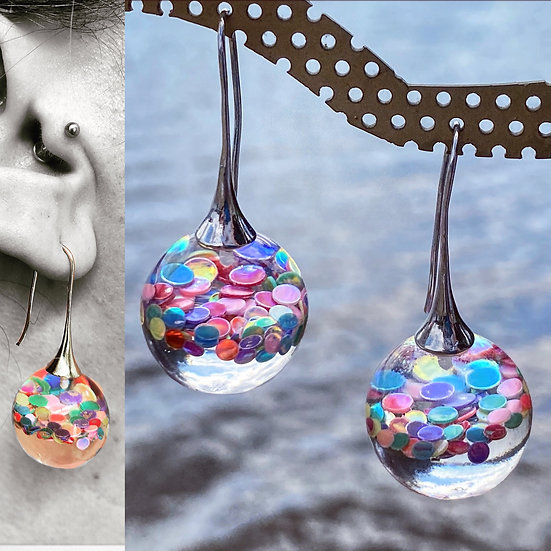 Resin Bauble Earrings 'Party Mix'