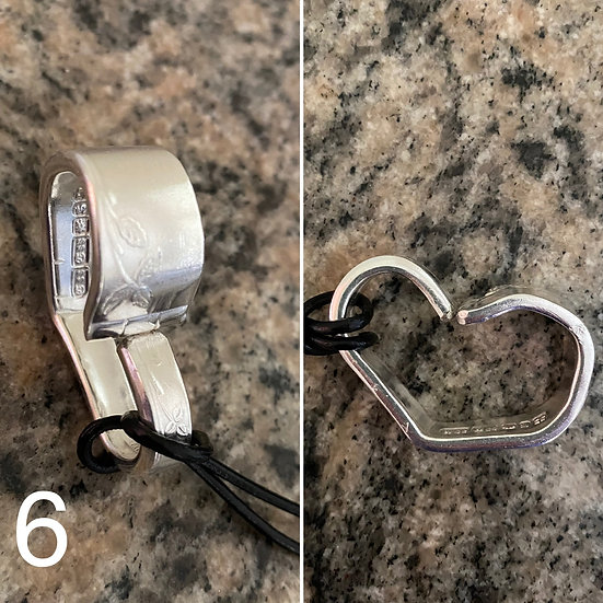 H6 Silver Spoon Handle Heart