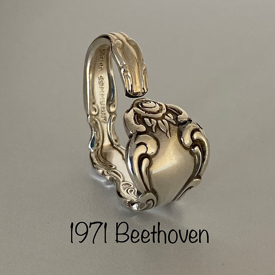 '1971 Beethoven' Silver Spoon Handle Heart