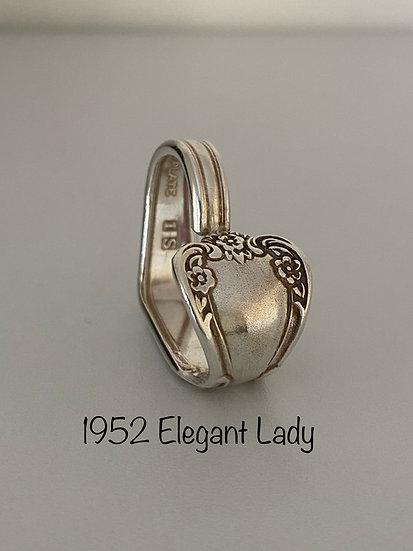 '1952 Elegant Lady' Silver Spoon Handle Heart