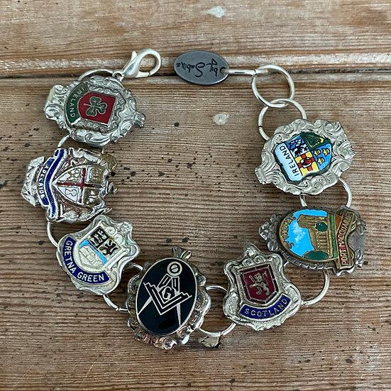 Vintage & Antique Souvenir Spoon Bracelet #2