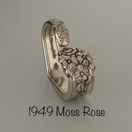 '1949 Moss Rose' Silver Spoon Handle Heart