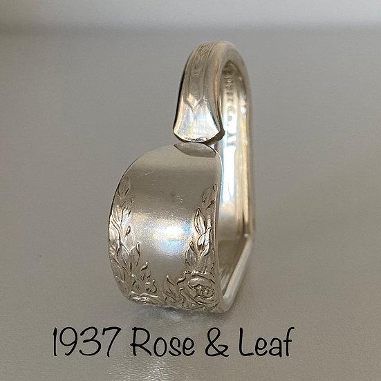 '1937 Rose & Leaf' Spoon Handle Heart