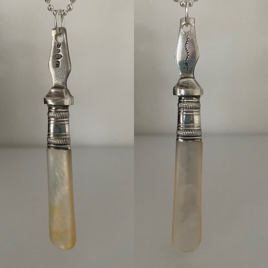 Antique Mother of Pearl Fork Handle (B)