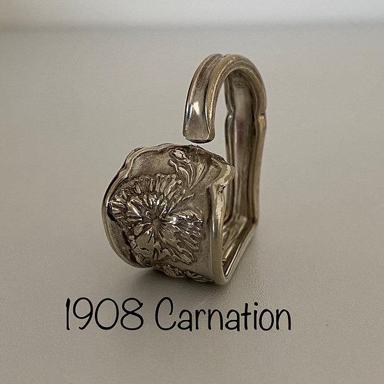 '1908 Carnation' Silver Spoon Handle Heart