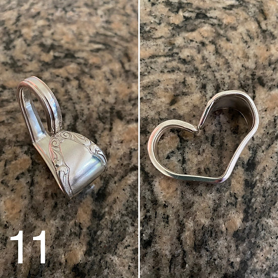 H11 Silver Spoon Handle Heart