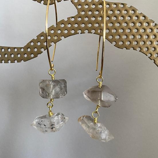 Quartz Crystal Earrings #2