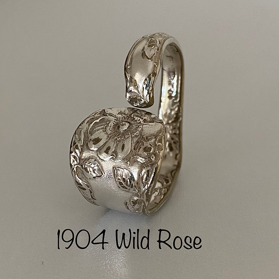 '1904 Wild Rose' Silver Spoon Handle Heart