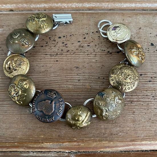 Vintage & Antique Uniform Button Bracelet
