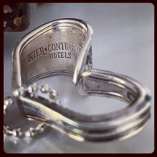 Special Edition Silver Spoon Handle Heart ' Inter Continental Hotels'