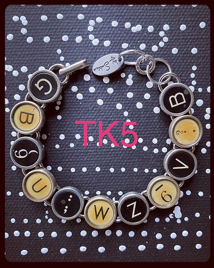 TK5 Vintage & Antique Typewriter Key Bracelet