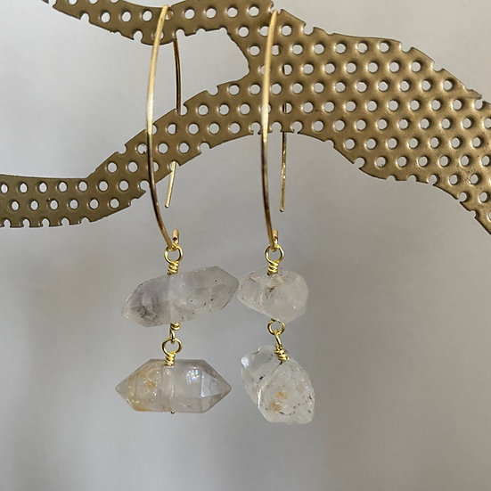 Quartz Crystal Earrings #1