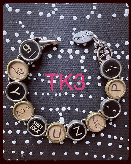 TK3 Vintage & Antique Typewriter Key Bracelet