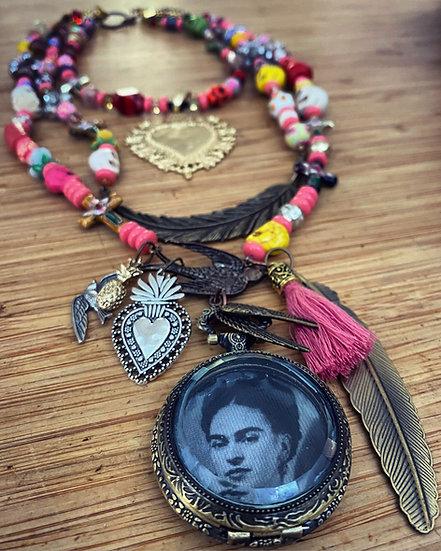 'Frida on my Mind' 3 Strand Necklace