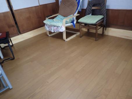 段差解消と床材の変更♪